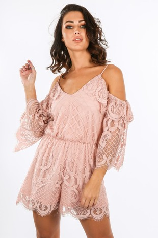 k/532/11531-_Cold_Shoulder_Grid_Lace_Playsuit_In_Pink-2__03359.jpg
