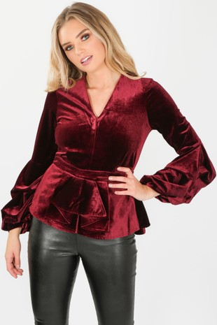 h/250/2220-_Velvet_puff_sleeve_peplum_top_in_wine-3-min__51530.jpg