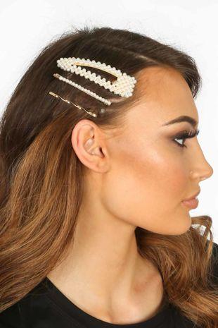 Alice Pearl Hair Slides Multi Pack