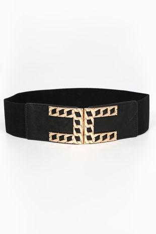 Gold Chain Buckle Waist Belt
