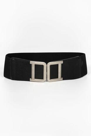 Silver Double D Buckle Waist Belt