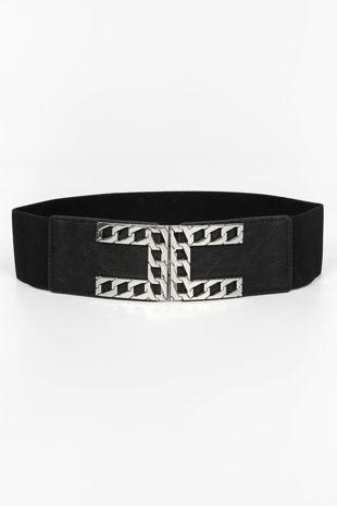 Silver Chain Buckle Waist Belt