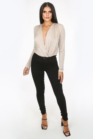 High Waisted Super Stretch Jeans In Black
