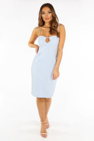 692a22af265d Plunge Bra Cup Bodycon Dress In Light Blue