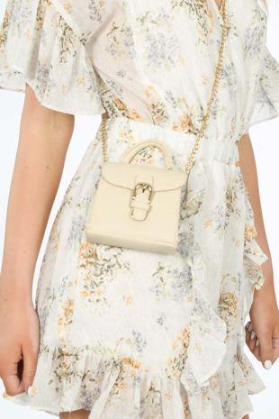 Cream Micro Tote Bag