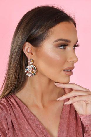 Crystal Drop Statement Earrings