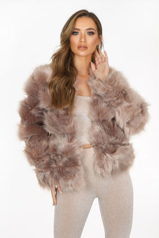 Taupe Super Soft Faux Fur Jacket