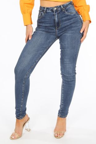 High Waisted Super Stretch Jeans In Dark Wash