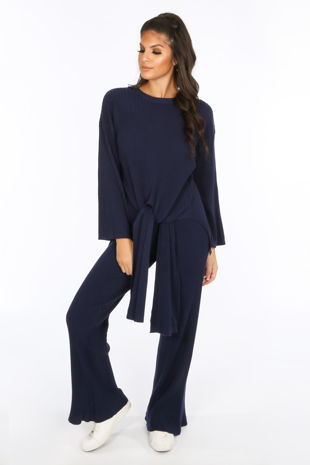 Navy Soft Knit Loungewear Set