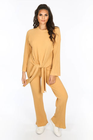Mustard Soft Knit Loungewear Set