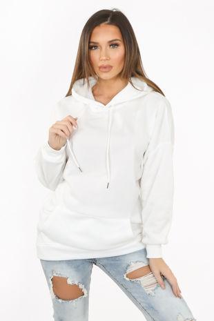 White Oversized Hoodie