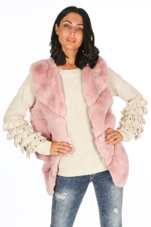 Pink Luxury Faux Fur Gilet