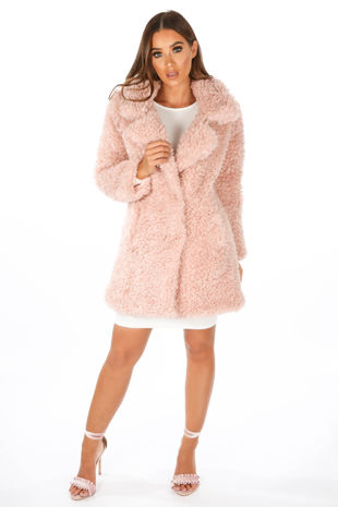 Pink Super Soft Borg Coat