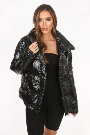 High Shine Padded Puffer Jacket