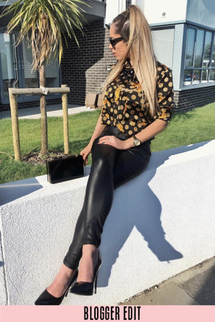 Tiger Print Blouse In Black