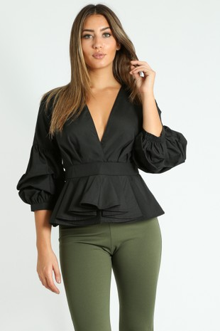 w/264/V-Neck_Puff_Sleeve_Peplum_Blouse_In_Black-2__30761.jpg