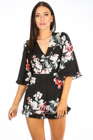 y/673/W1605-_Floral_V-neck_Playsuit_With_Frill_Hem_In_Black-2__24637.jpg