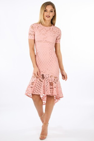k/064/W2407-_Pink_Crochet_Short_Sleeve_Fishtail_Midi_Dress__79559.jpg