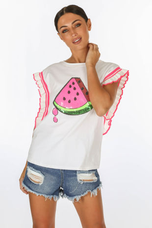 Watermelon Motif T-Shirt