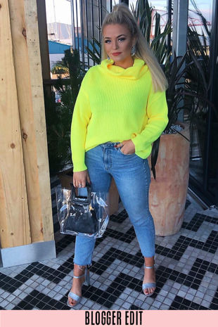 Fluorescent Yellow Oversized Jumper