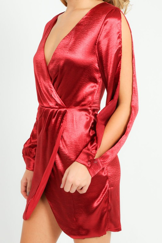 b/716/11462-_Satin_Open_Sleeve_Dress_In_Red-4__56554.jpg