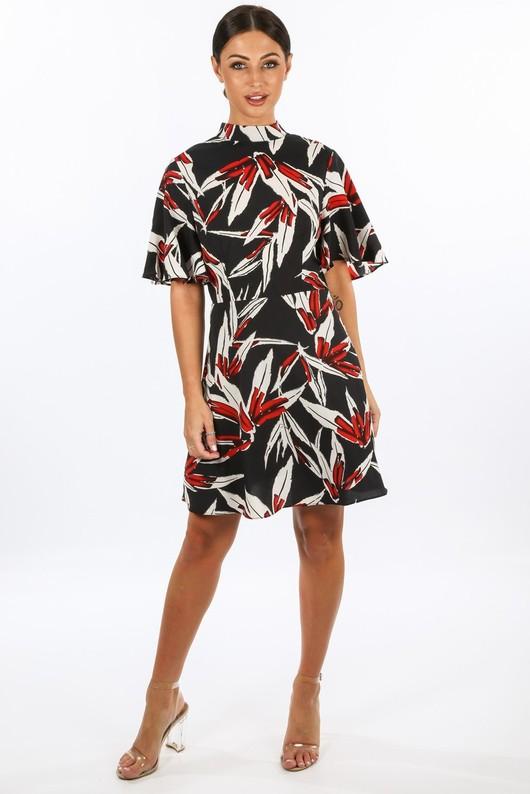 i/598/11772-8-_High_Neck_Tropical_Leaf_Print_Dress_In_Black__20930.jpg