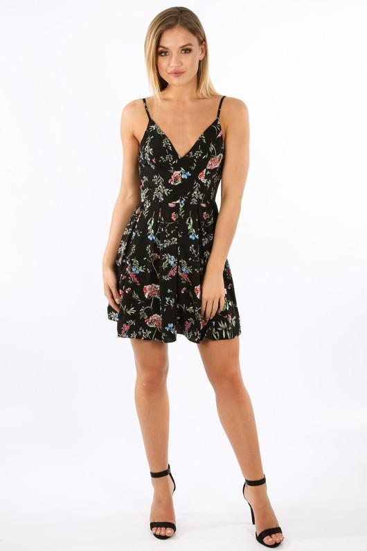 y/326/11820-_Floral_Strappy_Skater_Dress_In_Black__84640.jpg