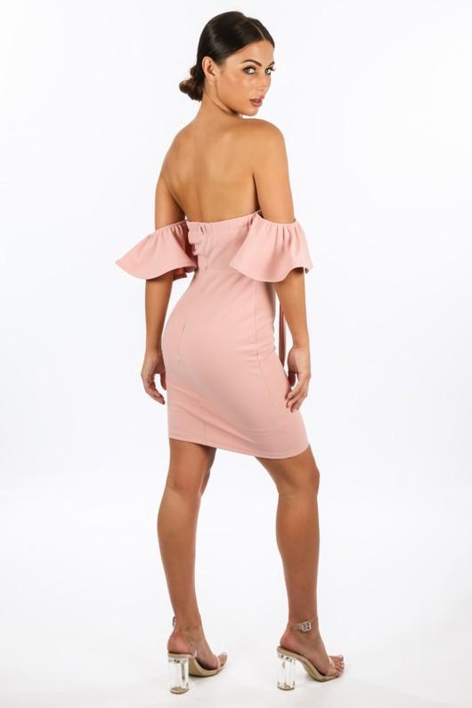 l/237/11886-_Tie_Front_Off_Shoulder_Dress_In_Pink-4__08978.jpg