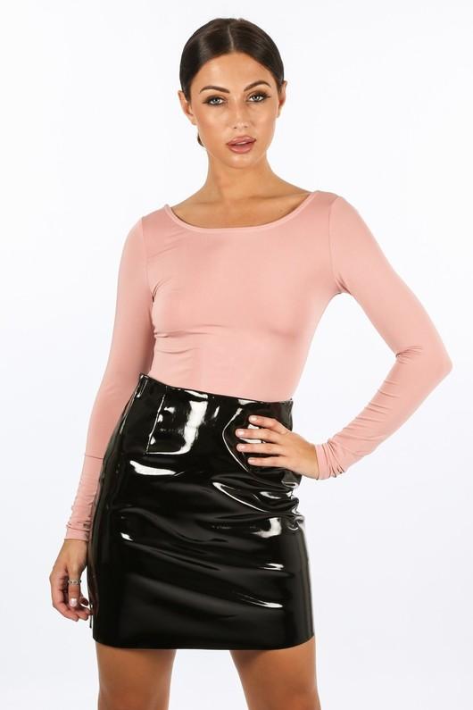 k/246/21365-_Long_Sleeved_Lattice_Back_Bodysuit_In_Pink-2__17235.jpg
