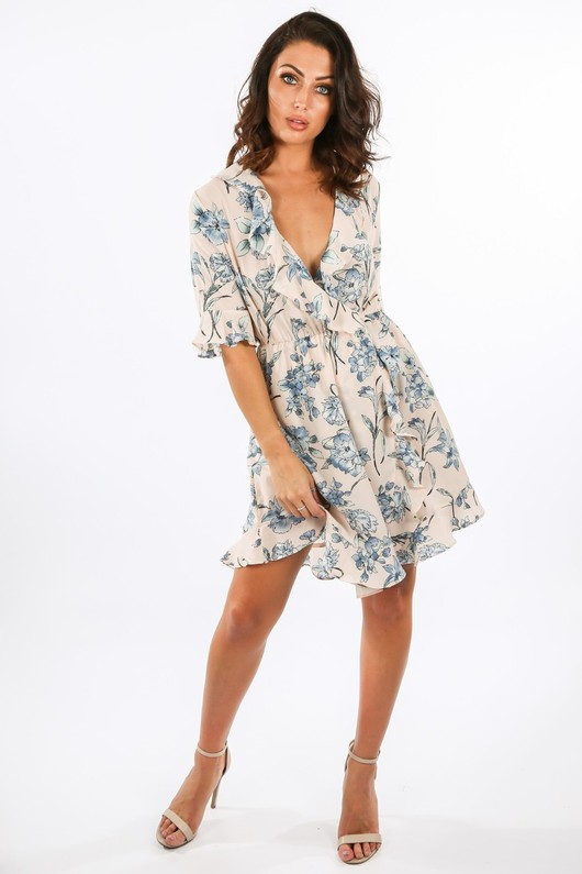e/130/21730-1-_Summer_Floral_Ruffle_Wrap_Look_Day_Dress_In_Nude__91432.jpg