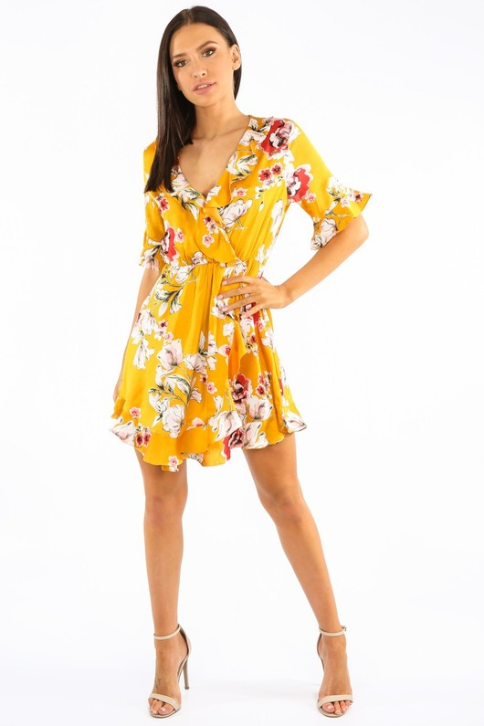 m/727/27730-_Floral_Satin_Wrap_Look_Dress_With_Frill_In_Mustard__65562.jpg