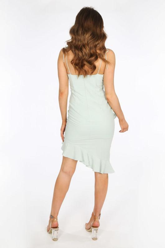 Seafoam Midi Frill Hem Day Dress