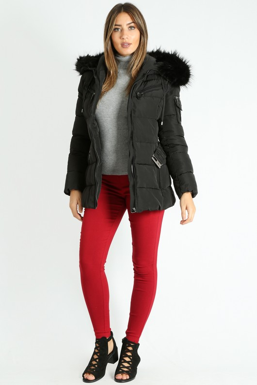 d/147/Black_Belted_Short_Quilted_Anorak_With_Faux_Fur__34643.jpg
