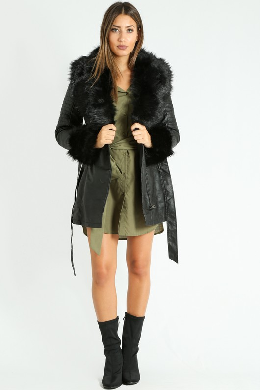 e/935/Black_Faux_Fur_Collar_Belted_Biker_Coat_In_Black__13902.jpg