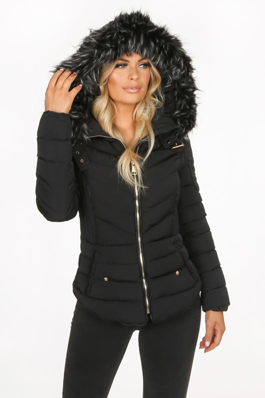 Black Fitted Puffer Jacket