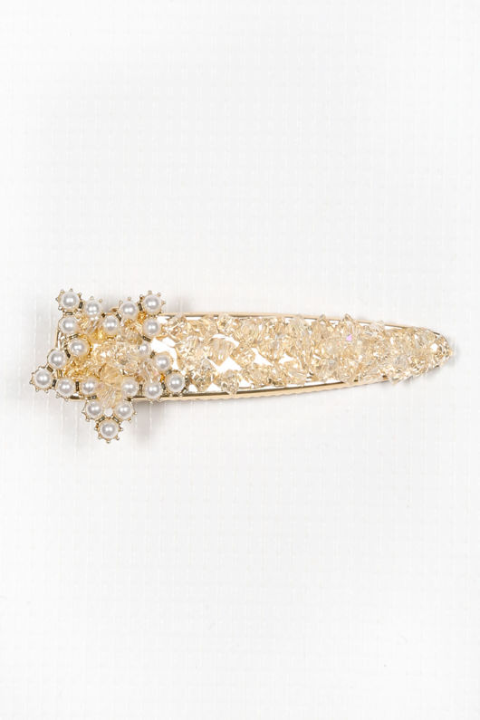 Paris Pearl & Diamante Star Hair Slide