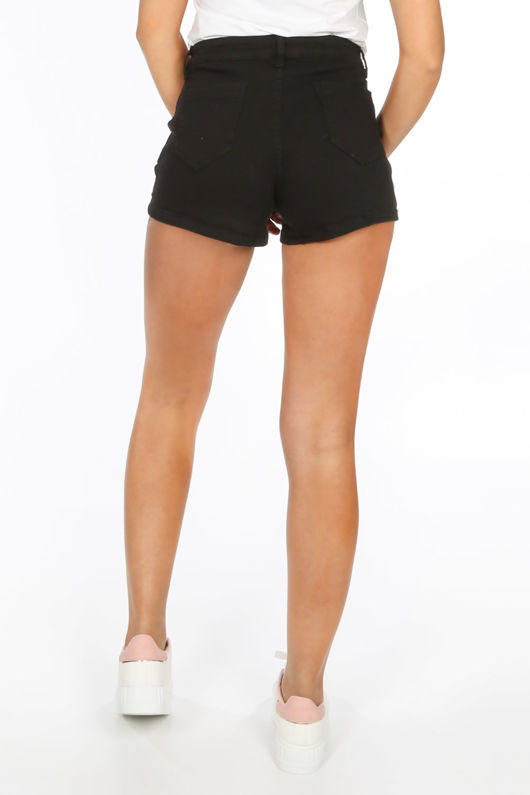 Black Denim Mini Shorts