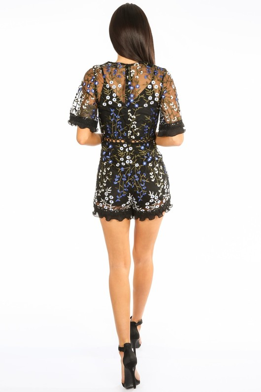 5669e128f32 g 472 Embroidered Lace Short Sleeve Playsuit In Black-4  41556.jpg