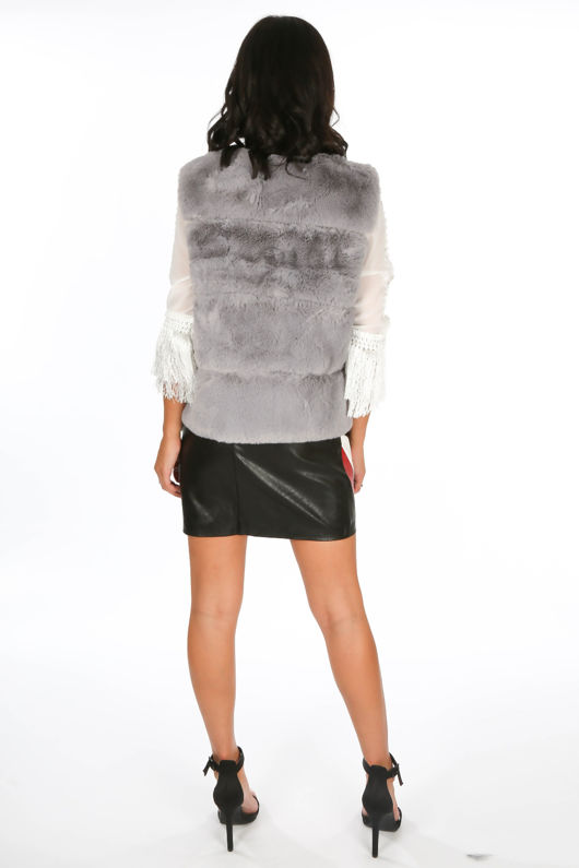 Grey Luxury Faux Fur Gilet