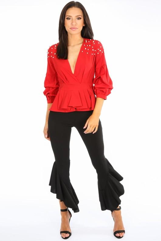 b/708/H118-_Red_Pearl_Embellished_Puff_Sleeve_Peplum_Blouse__91381.jpg