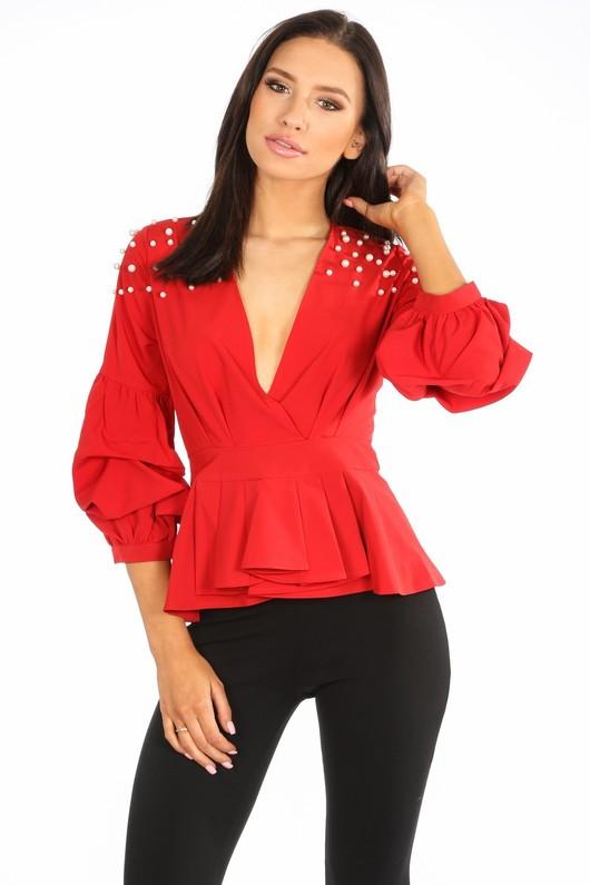 b/019/H118-_Red_Pearl_Embellished_Puff_Sleeve_Peplum_Blouse-2__81014.jpg