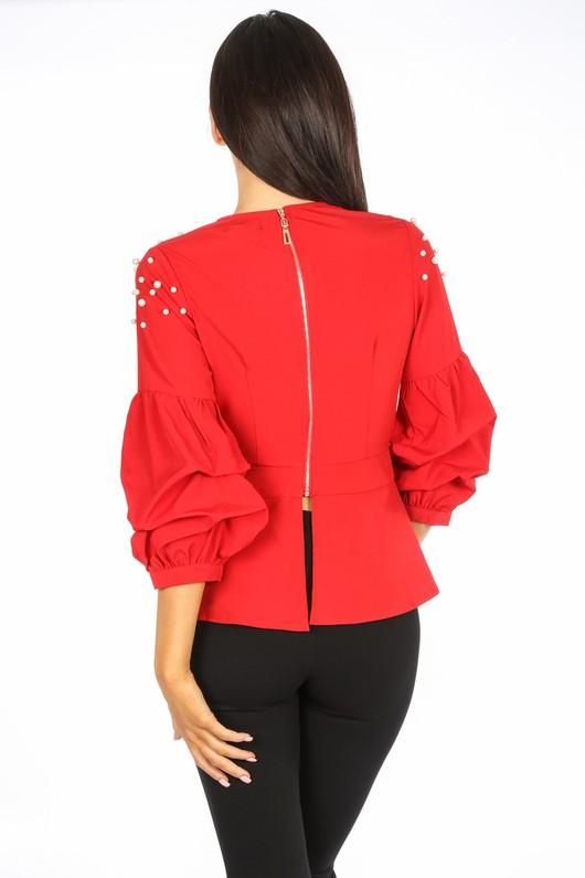 a/668/H118-_Red_Pearl_Embellished_Puff_Sleeve_Peplum_Blouse-3__56632.jpg
