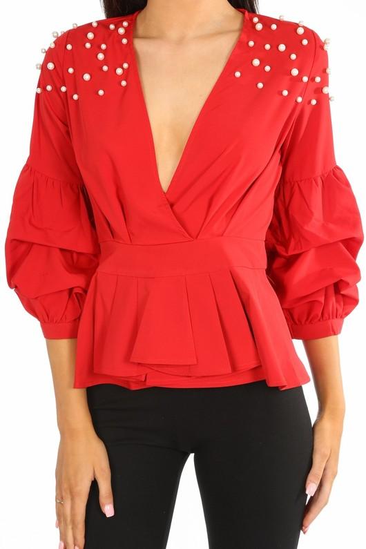 k/548/H118-_Red_Pearl_Embellished_Puff_Sleeve_Peplum_Blouse-5__70280.jpg