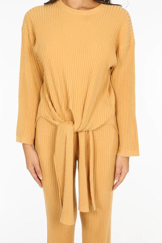 Mustard Soft Knit Loungewear Set