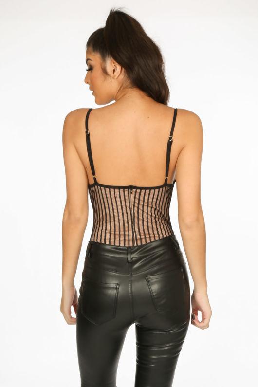 Boudoir Lace Bodysuit In Black