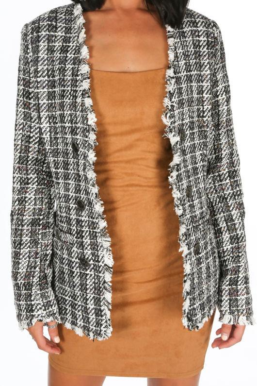 Monochrome Tweed Blazer