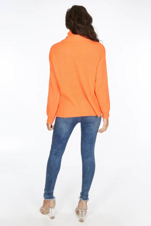 Neon Orange Oversized Jumper