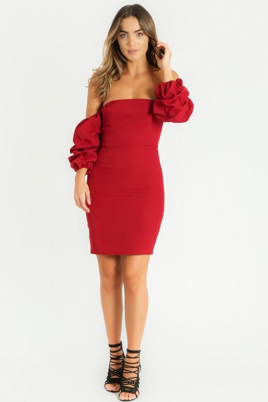 i/173/Off_The_Shoulder_Puff_Sleeve_Dress_In_Burgundy__68494.jpg
