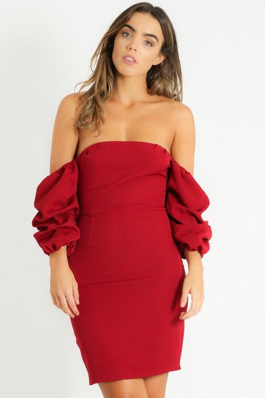 o/783/Off_The_Shoulder_Puff_Sleeve_Dress_In_Burgundy-2__87084.jpg