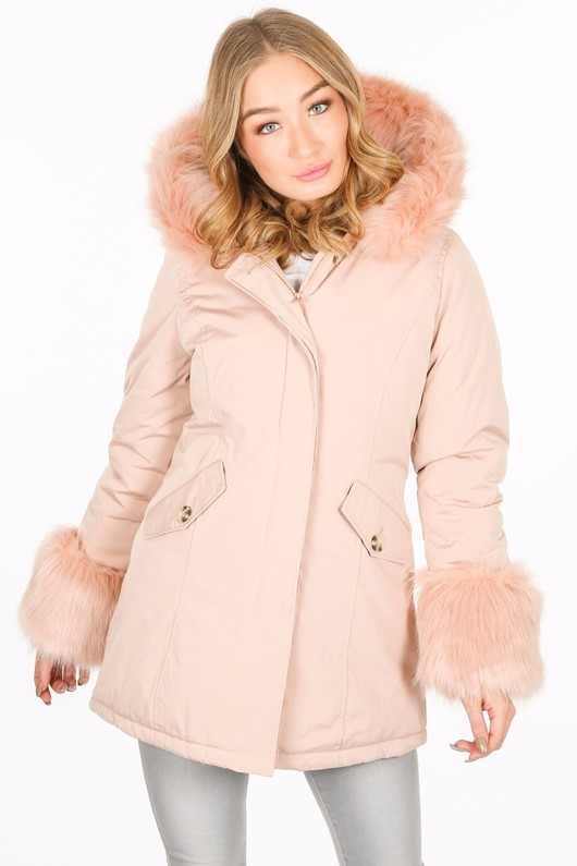 m/363/PK6016-_Fur_cuffed_parka_in_pink-4__85607.jpg
